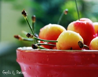 Life is a bowl of cherries - Set of four 4x6 Blank Greeting Cards