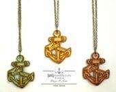 Sink or Swim Necklace Designed Danger Jones - Artist Series - Handmade - Laser Cut