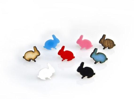 Bunny Earrings - Laser Cut - Handmade - laser cut jewelry