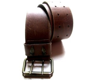 Vintage leather belt '70