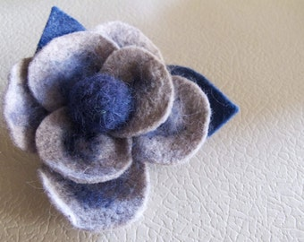 Rose felt brooch