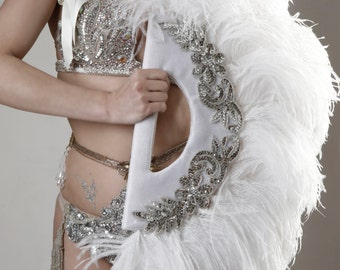 RENTAL - Burlesque Feather Fan by Talulah Blue