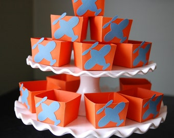 Airplane Candy Cups, Airplane Party Supplies, Airplane Birthday, Airplane Baby Shower, Airplane Decorations, 12 Pcs Orange Blue