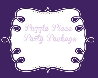 Party Package add ons, choose your pieces to complete your PuzzlePrints party