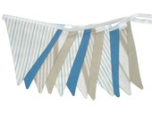 Boys 'Traditional / Classic' Flag Bunting.  HANDMADE . Wall hanging, Party, Wedding or Boys Bedroom Pennant, etc