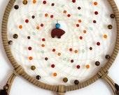 Swirling Skies Zuni Bear 7 inch Native American Dreamcatcher: Made To Order