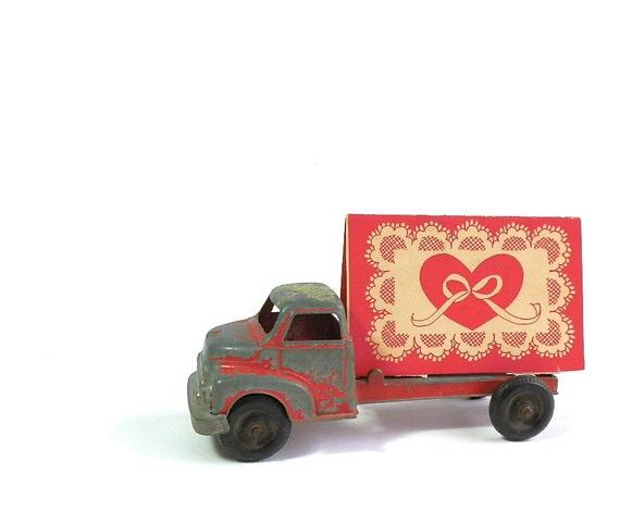 Valentine S Day Vintage Toys : Vintage tootsie toy truck red valentine s day by
