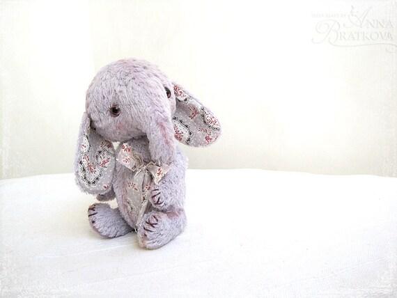 Artist Teddy elephant Pokkey lavender pastel