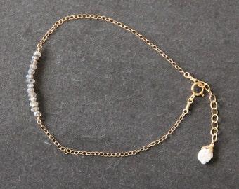 Labradorite Bracelet Gold Bracelet Labradorite Gold Bracelet Labradorite Gold Bar Bracelet