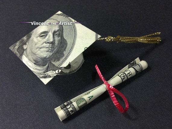 Items similar to Money Origami Graduation Cap & Diploma ... - photo#18