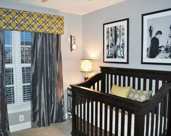 Custom Nursery Package - Cornice, Pillows, Diaper Stacker