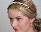 Limited Edition Designer Wedding Headband, Swarovski Pearls and Clear Rhinestones, Bridesmaids headband Wedding, Limited Stock