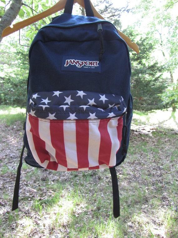 american flag jansport backpack