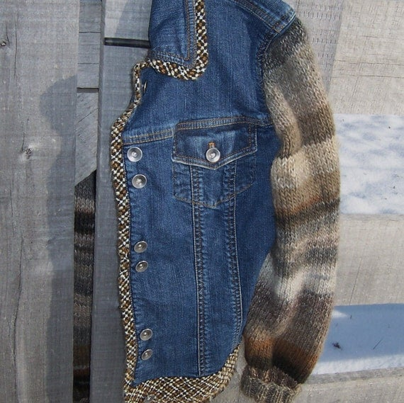 Jean Jacket Sweater Sleeves