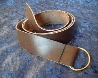 Simple Historical Leather Belt--- Loop Tie Style--- Available in S, M, and L --- Viking, Celtic, Renaissance, Historical, Tribal