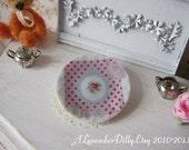 Shabby Rose Plate for Dollhouse