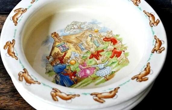 Royal Doulton Bunnykins Childrens Bowl Porridge Dish 1954