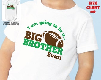 Football Big Brother to be Shirt or bodysuit - I'm Going to be Big Brother Football Shirt - Pregnancy Announcement Shirt