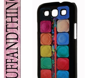 Samsung Galaxy SIII Artist Watercolor Paint Set Hard Case Cover Galaxy S3