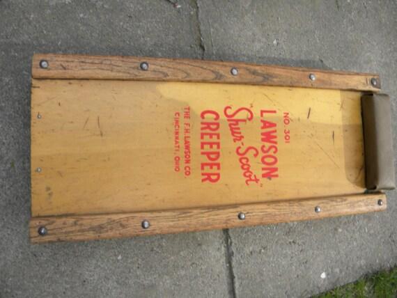 nice shape vintage wooden 1940s 1950s lawson MECHANIC AUTO car CREEPER
