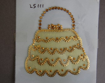 Yellow Sequin Handbag Heat Transfer