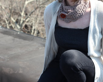 Lacey Crochet Button Scarves