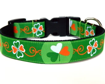 Holiday Dog Collars Kiss Me I'm Irish St. Patricks Day