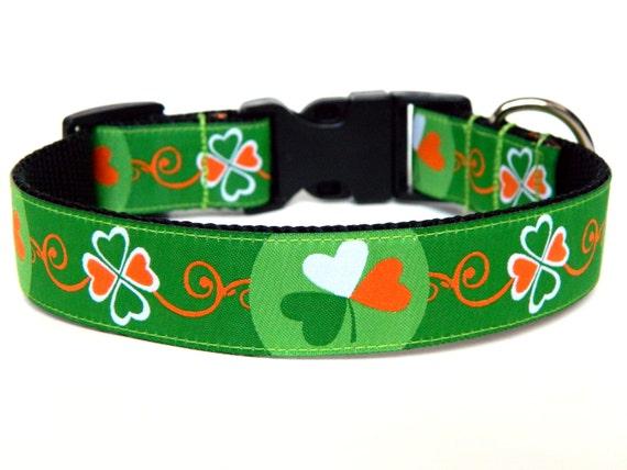Holiday Dog Collars Kiss Me I'm Irish St. Patricks Day