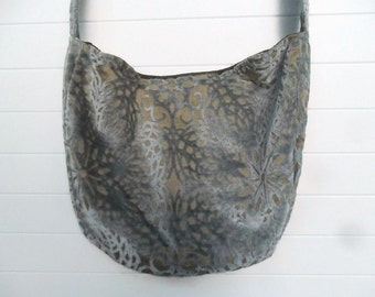 Bohemian Gypsy Bag Purse Ice Blue Cut Velvet
