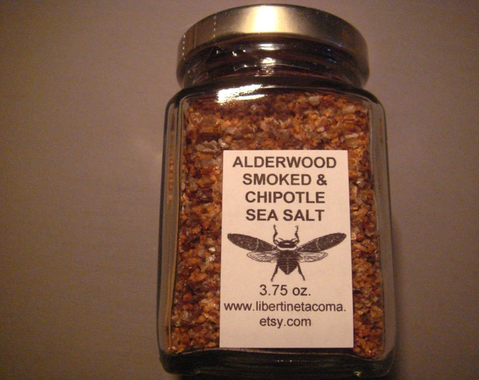 Alderwood Smoked & Chipotle Gourmet Sea Salt Blend in a Variety of Sizes