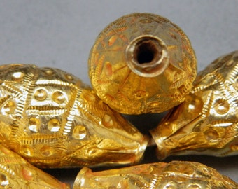 Ethnic Tribal Dance Costume Jewelry Supply Kuchi Pashtun Afghan Biconical Bead Gold Wash Uber Kuchi®