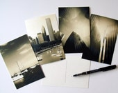 Chicago Postcards Set of 4 - Gift - Art - New Year