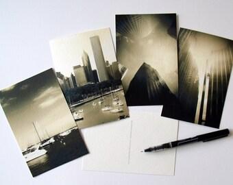 Chicago Postcards Set of 4 - Gift - Art
