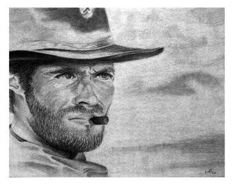 Clint Eastwood Print - Gift - Art - New Year