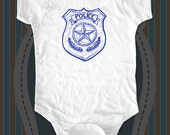 Police Officer Badge - graphic printed on Infant Baby One-piece, Infant Tee, Toddler, Youth T-Shirts