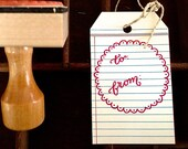 TO / FROM STAMP - Hand-Drawn & Hand-Lettered Rubber Stamp - Customizable Calligraphy Stamp