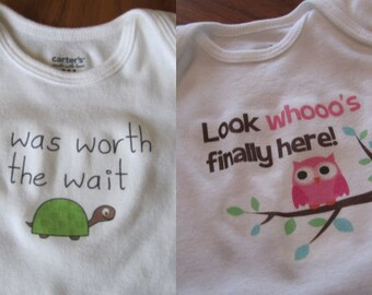 ANY 2 non personalized bodysuits in my shop - TURTLE OWL etc
