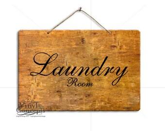 Laundry Room - Vinyl Wall Art