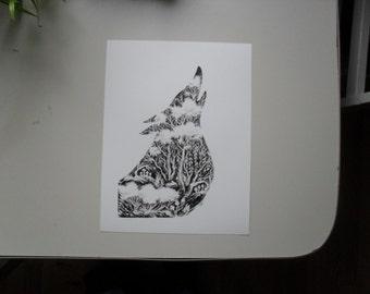 Flora Fauna Print