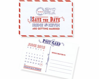 Postal Save the Date Postcard - 4x6 Postal Save the Date Card