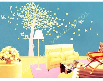 cherry blossom tree wall decal wall decal wall sticker decal sticker  girl graphic mural- Cherry Blossom Tree100""