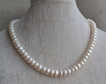 Real Pearl Necklaces,9.5-10.5mm Ivory Freshwater pearl necklace,mother necklace,wedding necklace,statement necklace,genuine pearls necklaces
