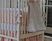 Diaper Stacker - Neapolitan- Cheetah and Pink Toile