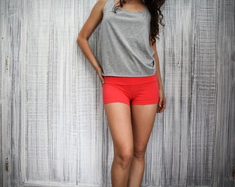 Women's cotton lycra shorts - Cloud Hot Shorts - beach, fitness, active wear