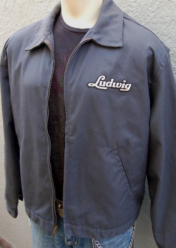 Xl Vintage Ludwig Drums Logo Jacket Dickies Eisenhower