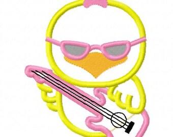 Chicks rock easter embroidery applique designs digital instant download