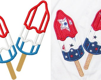 4th of july bomb popsicle applique design instant download