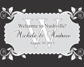 """100 4"""" x 3"""" Welcome Bag/Box Labels - Wedding Stickers Printed with Your Colors"""