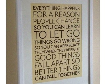 Everything Happens for a Reason- Marilyn Monroe