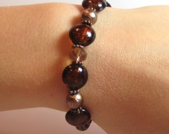 Amber - COPPER Interchangeable Beaded Watch Band